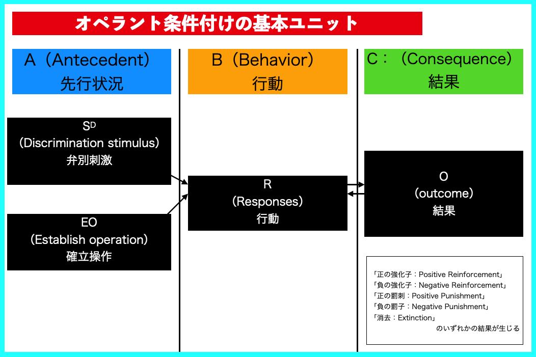 (ABA自閉症療育の基礎16)オペラント条件付けの基本ユニット